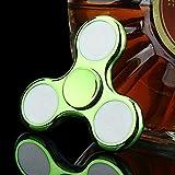 Kingko® LED Licht Fidget Hand Spinner Torqbar Finger Spielzeug EDC Focus Gyro Galvanisch glänzender Kreisel Kreisel (Grün) -
