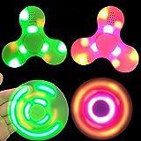 Nibesser Fidget Spinner LED Light Fidget Toys Bluetooth Lautsprecher Finger Spielzeug für Kinder und Erwachsene 1 Stück (Grün) -