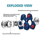 SAVFY Fidget Spinner Finger Hand Spinner Keramik Lager für Autismus EDC Bremskraftbegrenzer Entlastet und Entspannung für Kinder und Erwachsene, Blau -