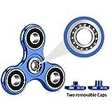 Oriental eLife Fidget Spinner, EDC Tri Finger Hand Metall Aluminium Legierung Spielzeug für Erwachsene Kind, Blau -