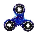 Tri Fidget Hand Spinner Stress Reducer Dreieck Metall Finger Focus Gyro Spielzeug für Kinder / Erwachsene (Blau)