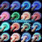 Fidget Spinner Quimat Zappeln Spinner Hand Spinner LED Leuchten Finger Spielzeug EDC 216 Modi blinken Perfekt Kind nach hilft Anti-angst Fokussierung Langeweile Druckreduzierer - 4