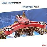TiMi Tree Finger Spinner, Metall Zappeln Spinner, Zappeln Fidget Spielzeug, Hand Spinner, Geburtstag Weihnachtsgeschenke für Kinder, Jungen, Mädchen, Studenten (Rot) - 5