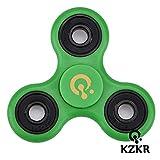 Stress Spinner KZKR Hand Tri Spinner Finger Fidget Toy Unruhe Kreisel Spielzeug mit Kugellager Geschenk für Kinder und Erwachsene Y211 (grün)