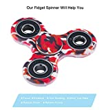 Fidget Toys Hand Tri Spinner Finger Spielzeug für Kinder und Erwachsene Spielzeug Geschenke, Bunt Motiv (Stil-1) -