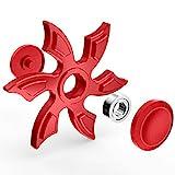 Kreatives Spielzeug Fidget Fingerspitze Spinner Hexagon Finger Dekompression Spielzeug Gyro Hand Spinner Fingerspitzen Gyro (Rot)