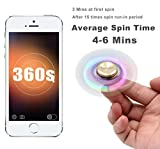 SEGURO Bunt Fidget Hand Spinner 4-6 Min Finger Spielzeug Titanlegierung Mehrfarbig Rainbow Tri-Spinner Fidget Toys EDC Focus Stress Reducer für Entlastet, Autismus, Zeit totschlagen, Entspannung -